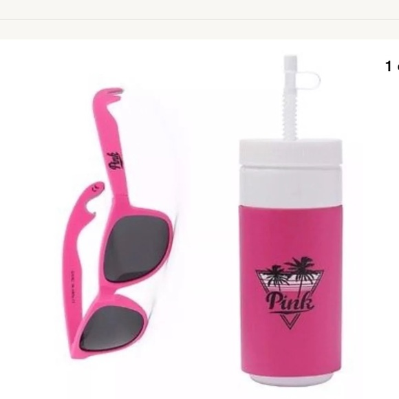 NWT Victoria/'s Secret Pink Water Bottle And Bottle Opener Sunglasses Set